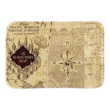 Home Decorative Doormats Vintage The Marauder'S Map Soft Lightness Indoor Outdoor Mats Bathroom Short Plush Fabric Floor Mats