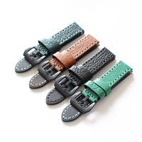 TJP Top Quality 20mm 22mm 24mm Green Black Brown Vintage Genuine Leather Watch Bands Strap For