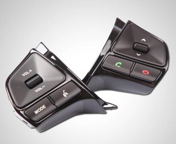 AOSRRUN, руль, аудио канал, кнопка управления, автомобильные аксессуары для 2010 2011 2012 2013 KIA Rio K2, седан, хэтчбек - Название цвета: with bluetooth