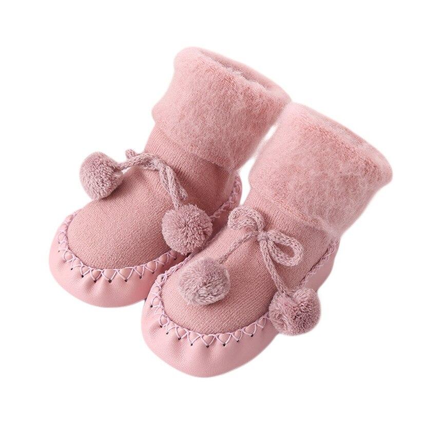 Baby Boy Girl Shoes like Socks Cotton Children Floor Socks Anti-Slip Baby Step Socks Shoes Fashion Warm Cute P5