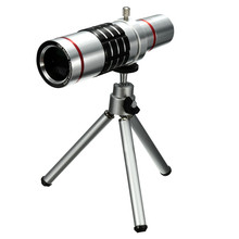 Universal 18X Zoom Phone Camera Optical Telephoto Lens Telescope With Cliip Mount Tripod For iPhone For Samsung Smartphone Lens