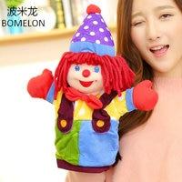 37 cm Clown Grote Handpoppen Grote Hansworst Pluche Pop Kinderen Figuur Baby ouder-kind Speelgoed Storytelling Props Kinderen Gift