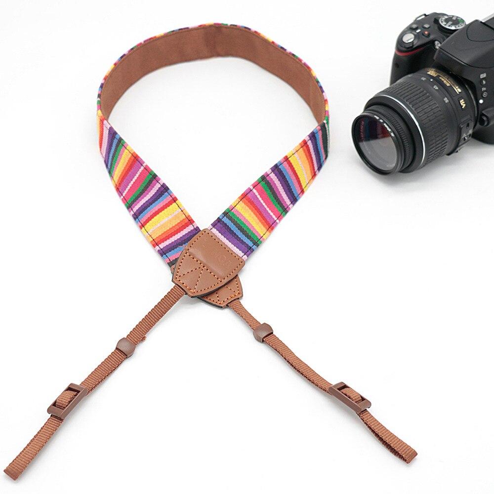 Retro Pattern Camera Shoulder Neck Strap Belt For Canon Nikon SLR DSLR LYN-256Z