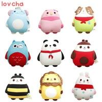 Lovcha 30*34cm cute adorable panda Papa bee penguin lion owl pig nano foam particle pillow panda birthday gift plush toy doll