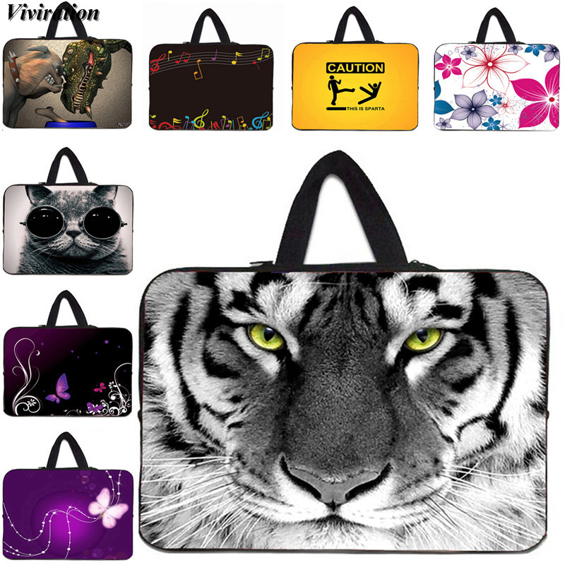 Viviration Soft Neoprene Notebook Bag 14 15 13 12 10 10.1 11.6 Inch Laptop Case For Xiaomi Huawei Dell Sleeve 17 Computer Bag