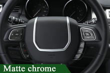 ABS Chrome Steering Wheel Decorative Strips Cover Trim Stickers for Land Rover Range Rover Evoque interior Accessories 2012-2017 цена