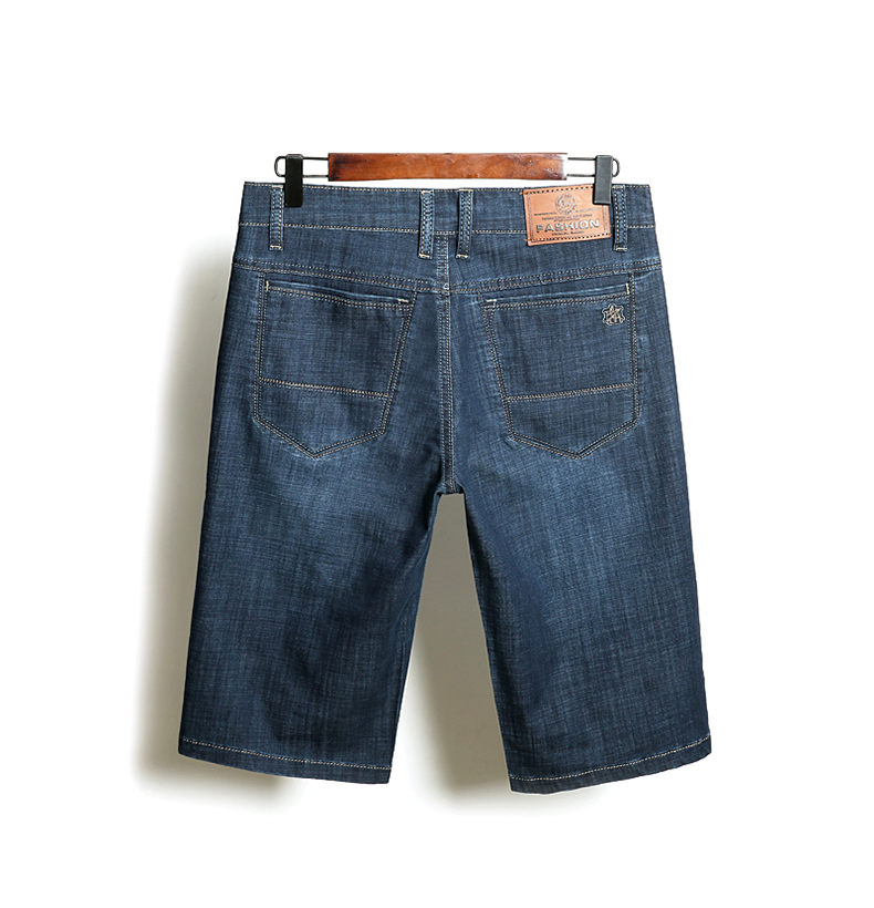 KSTUN Denim Shorts Men Jeans Ultrathin Slim Straight Black Blue Short Jeans Male Brand Clothing Businessman Shorts Jeans Homme 12