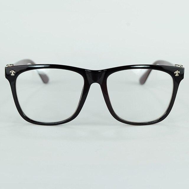 Gothic Style Cross Rivet Optical Glasses Plastic Frame Clear Lenses ...
