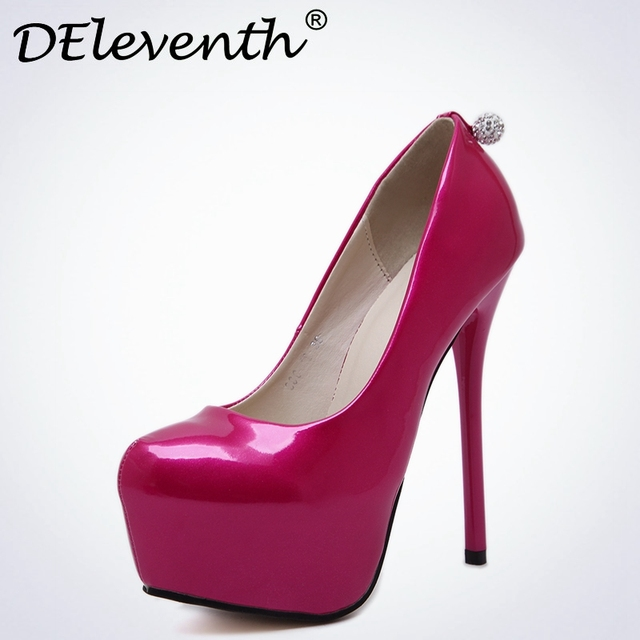 dade6b865e83 DElevent Fashion Women Platform Shoes 2017 New Spring Autumn Perfect Ball Women  Pumps Thin Heels Sexy Slim Office Shoes Size 40
