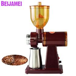 BEIJAMEI 110v 220v Electric Coffee grinder mill machine Small Home Coffee Bean Grinding Milling Red/Black