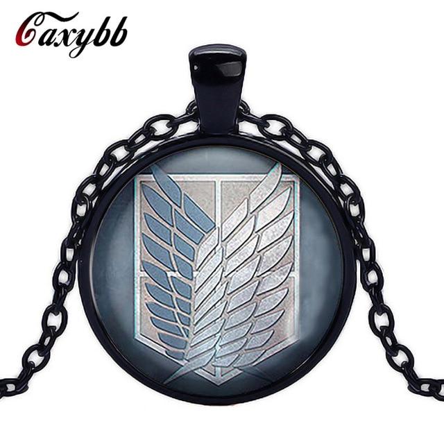 Attack on Titan Levi Ackerman Glass Cabochon Pendant Necklace