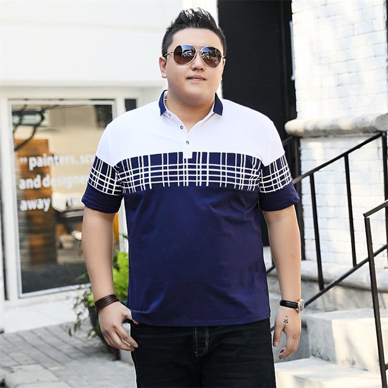 Plus la taille 10XL 9XL 8XL grande taille 7XL Hommes Polo Shirt De Mode classique Couleur Unie À Manches Courtes Hommes Polo Mâle Chemise Top T-shirts Grand