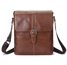 Hot Brand new real genuine leather men messenger bags leather shoulder bags mens handbag business bag   LJ-447