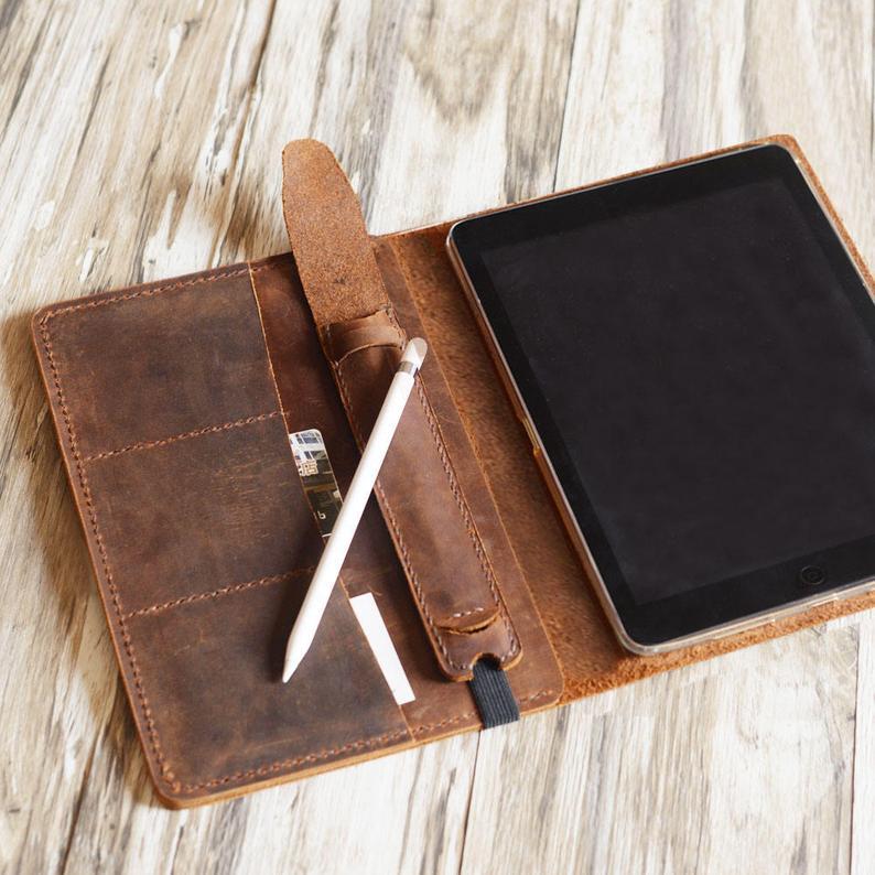 Personalized iPad Pro10.5 / 9.7 /12.9 leather cover portfolio apple pencil holder iPad cover case Luxury Leather portfolio CoverPersonalized iPad Pro10.5 / 9.7 /12.9 leather cover portfolio apple pencil holder iPad cover case Luxury Leather portfolio Cover