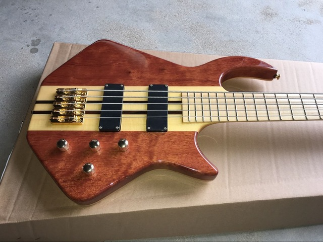 handcrafted 5 String Bass Guitar. Maple fingerboard  1