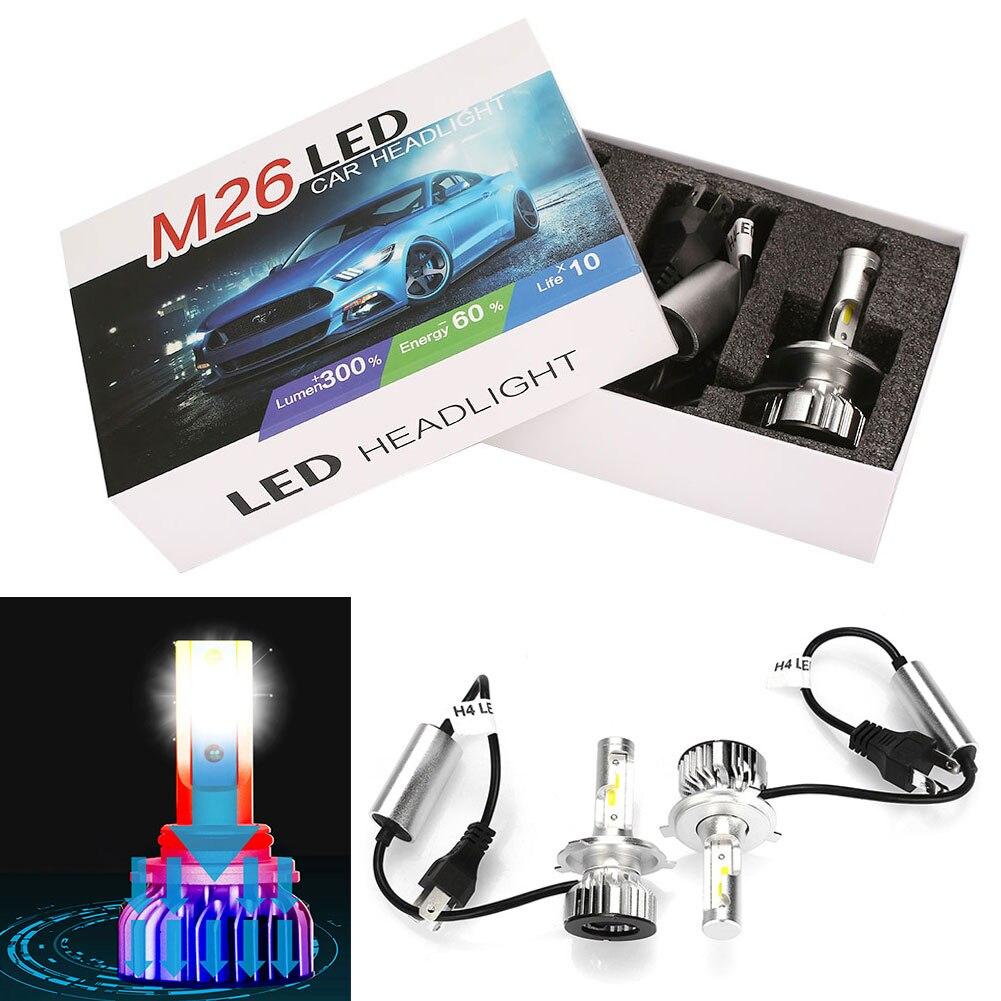 Vehemo H4 дальнего спереди лампы стилизации автомобилей светодио дный фар супер яркий светодио дный противотуманные свет Автомобильные аксессуары сборки освещения