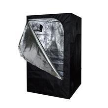Black&White Hydroponic 600D Oxford Cloth Grow tent 120x60x150cm