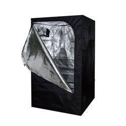 In Bianco e nero Idroponica 600D Oxford Panno di Coltiva La tenda 120x60x150cm