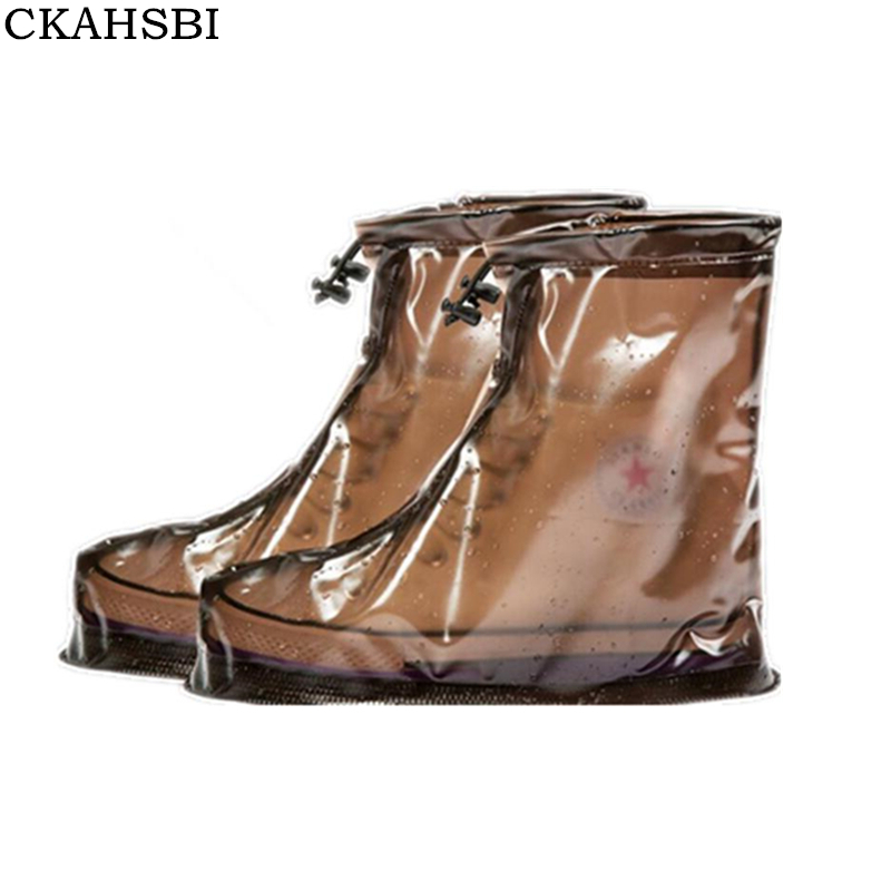CKAHSBI 2018 New Waterproof Reusable Shoes Covers All Seasons Slip-resistant Rain Boot Overshoes Men&Womens Shoes Accessories