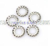 200Pcs M8 Stainless Steel 304 SUS304 External Serrated Lock Washers