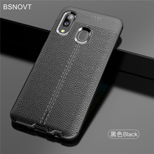 For Samsung Galaxy A20e Case Soft Silicone PU Leather Anti-knock Cover BSNOVT