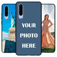 For Huawei P30 Custom Personalized Make your Photo pattern images Hard Body Soft Side Phone Case Cover