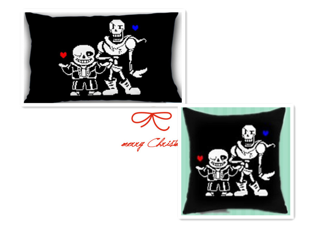 Free shipping Anime undertale stickerbomb bed bath throw pillow case cover Rectangle Square Pillowcase