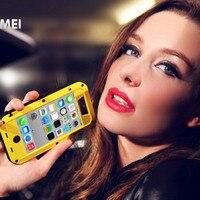 עבור apple iphone 5c המקורי case מקרי טלפון חזק לכלוך waterproof האהבה מי מתכת אלומיניום עם זכוכית גורילה