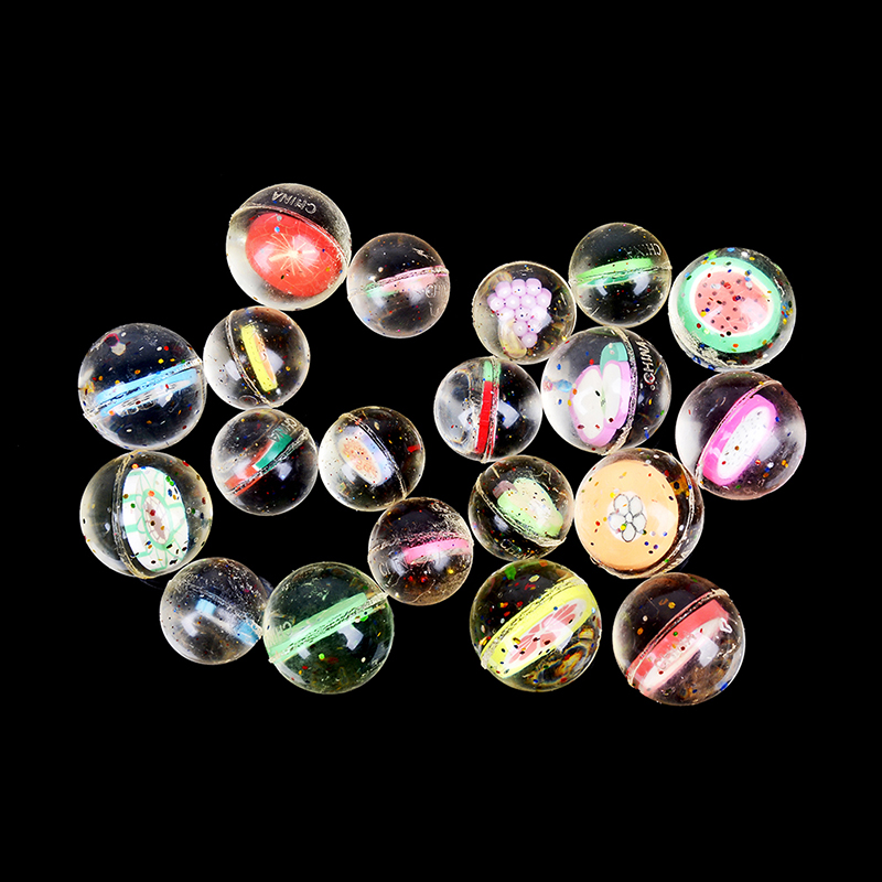 25/30mm 2/10Pcs Funny Toy Balls Mixed Bouncy Ball Solid Floating Bouncing Child Elastic Rubber Ball Of Pinball Bouncy Toys