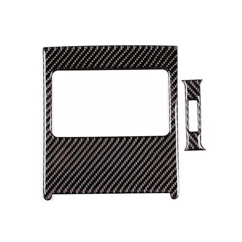 רכב סיבי פחמן אחורי/לוח מחוונים פנל מזגן אוויר Vent Outlet כיסוי Trim עבור מרצדס בנץ C Class W204 2007 2008-2013