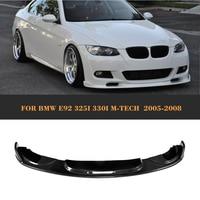 Carbon Fiber Front Bumper Lip Auto car front diffuse Spoiler For BMW E92 M Sport 2005 2006 2007 2008 325i 330i