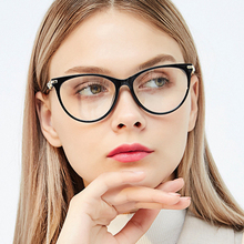Belmon Cat Eye Spectacle Frame Women Eyeglasses Computer Prescription Optical For Female Eyewear Clear Lens Glasses Frame 97544