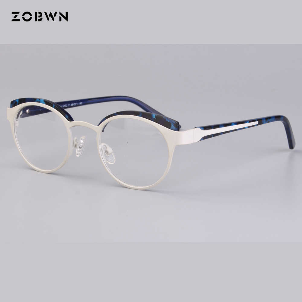 4fa6a185dc65 ... wholesale round children eyeglasses metal mixed acetate green Goggles Reading  Glasses UV400 cat eye kids harry ...