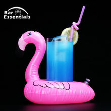 Mini Flamingo Unicorn Floating Inflatable Coasters Floating Pool Drink Cup Holder Cell Phone Stand Party Decoration Table Cup(China)