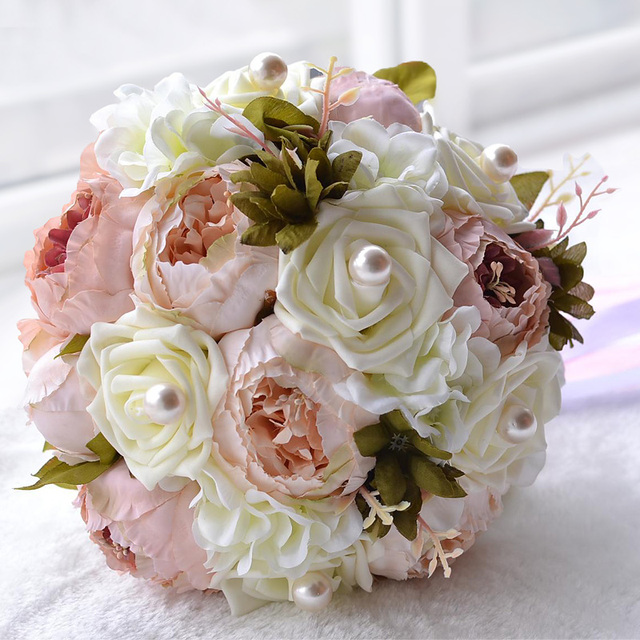 Romantic Artificial Flowers Peony Wedding Bouquets 2018 in Autumn ...