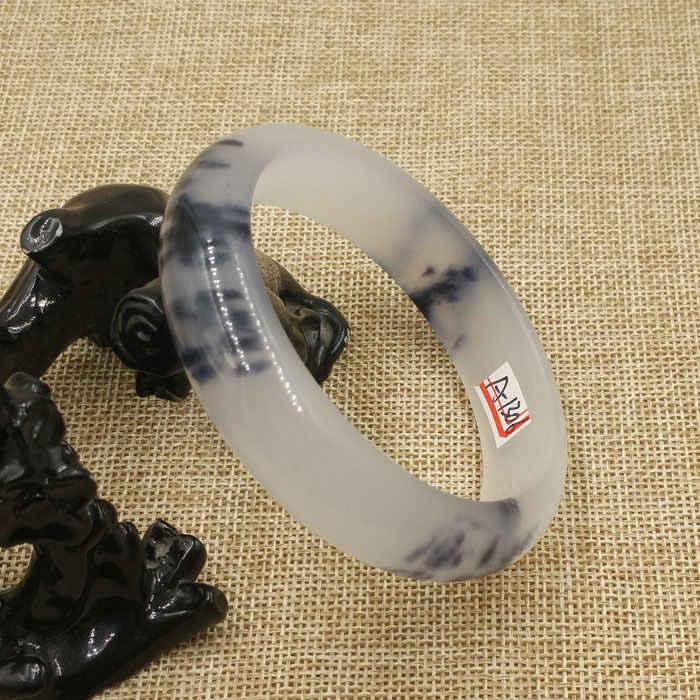 DYY A-1306วินเทจจีนแฟชั่นสวยสีดำสีขาวหยกกำไลสร้อยข้อมือ63มิลลิเมตร