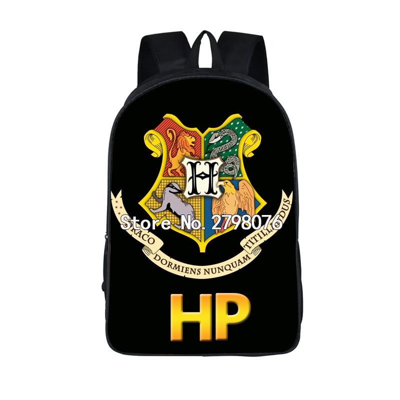 Harry Potter Backpack Boys Girls School Bags Team Slytherin Alumni Teenage School Backpack Hogwart Deathly Hallows Kids Bags