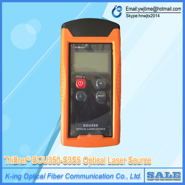TriBrer BOU350-S3S5 Optical Laser Source  Tribrer Optic Fiber Tools Power Meter Light Source 1310/1550nm