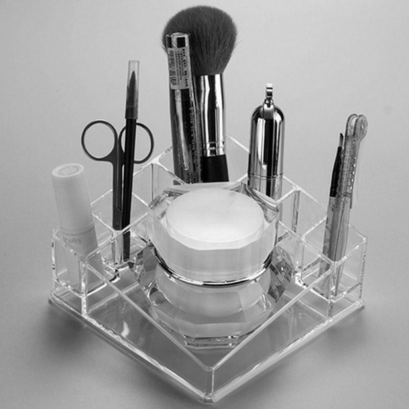 2018 Hot Clear Acrylic Makeup Lipstick Organizer Storage Box Desktop Holder Rack Case FM88
