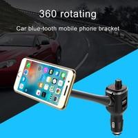 Bluetooth Fm-zender Auto Kit Magneet Telefoon Houder Met MP3 Muziekspeler USB Charger Voor Cellphones Auto MP3 Audio Player TJ