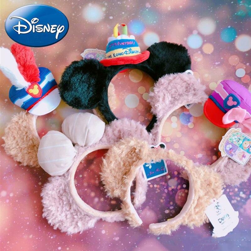2019 Disney Women Headband Girls Party Headdress Gift Mickey Minnie Big Ear Cartoon Kawaii Plush Toy Pretend Play Birthday Gifts