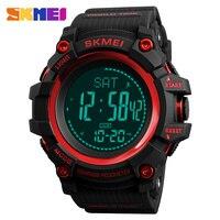 Skmei Digital Men Eletronic Sport Watch EL Light Waterproof Cool Top Brand for Man Compass Watches Pedometer Relogio Masculino