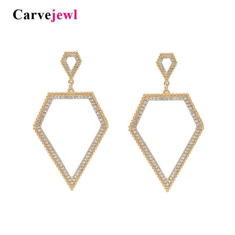 Carvejewl geométrica simples dangle brincos brincos jóias simulado de pérolas de cristal strass design exclusivo minimalista Americano