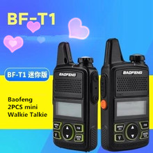 2pcs Baofeng BF-T1 New Portable radio MINI Walkie Talkie Dual Ham communicador Transceiver USB Interphone two way