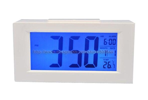 Wekker Met Licht : Hd grote lcd scherm licht sensor kalender smart klok met backlight