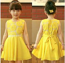 Рождество корея девушки платье детей пачка. Подсолнечное платье принцессы кружева вечернее платье малыш шифона одежда ну вечеринку платья 5 шт.