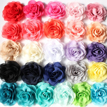 Chiffon Flower For Hair 3.2'' headband flowers 26 colors  WITHOUT clips DIY garment accessories 100pcs/lot