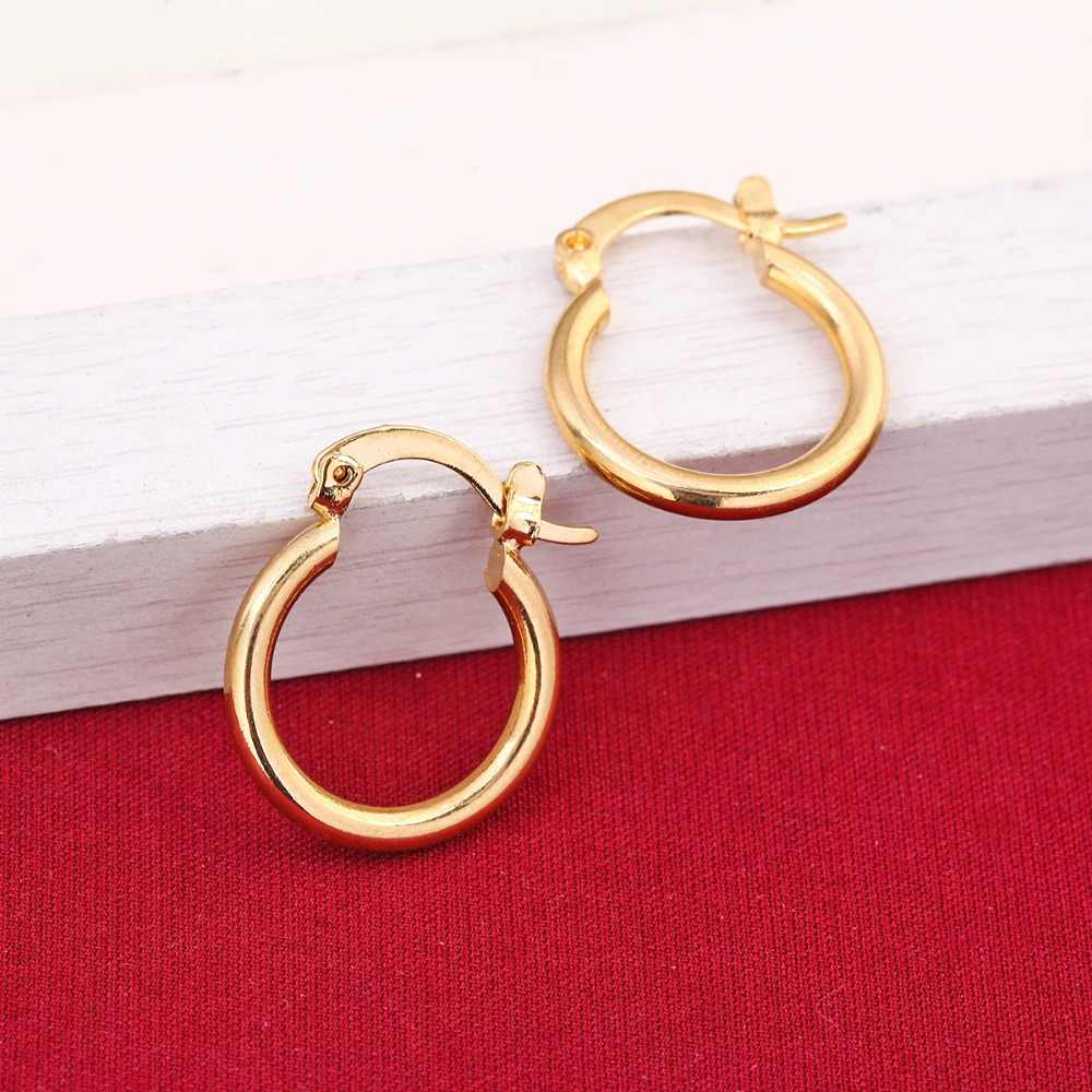 24K Gold Earrings Fashion New Model Earrings Dubai Ethiopian African Europe Golden Jewelry