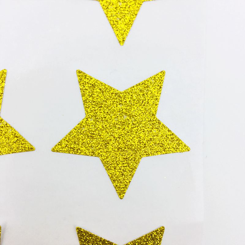 60pcs Glitter Gold Stickers Glitter Star Envelope Seals Gold Heart Stickers 3.5cm for Kid's Party Birthday Baby Shower Decor