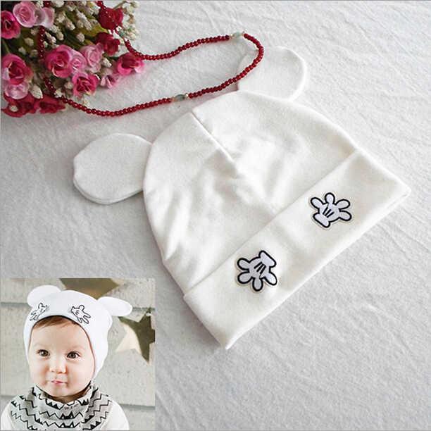 5aae8b3f449 ... Cotton Baby Caps Girls Boys Cartoon Mickey Design Baby Winter Cap Baby  Girl Hats Crochet With ...